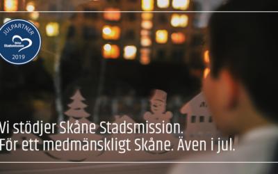 I år skänker EDP julklappspengarna till Skåne Stadsmission.